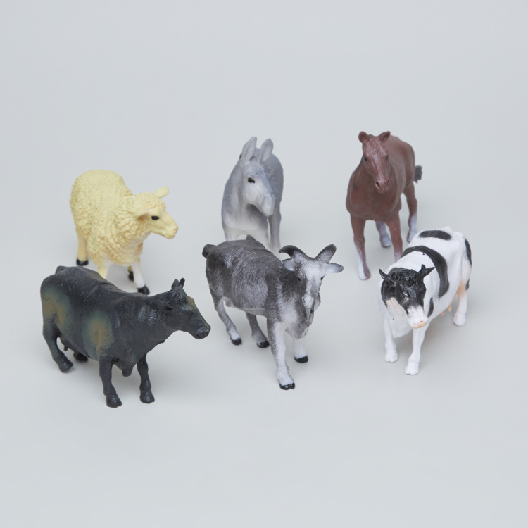 Assorted 6-Piece Farm Animal Toys
