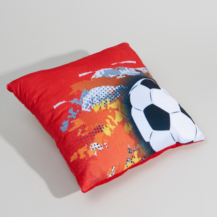 Juniors Soccer Printed Filled Cushion - 35x35 cms