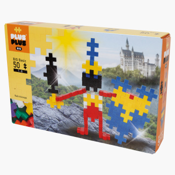 Plus-Plus Big Basic 50-Piece Knight Bricks Playset