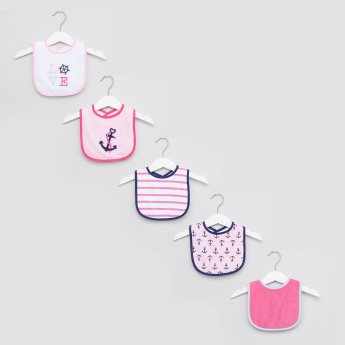Luvable Friends Assorted Bib with Hook and Loop Closure - Set of 5