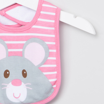 Luvable Friends Printed Bibs with Back Closure - Set of 3
