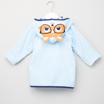 Hudson Baby Tie-Up Bathrobe with Long Sleeves and Hood