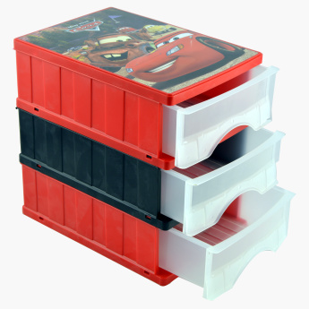 Keeeper Cars Printed 3-Tier Drawer Box