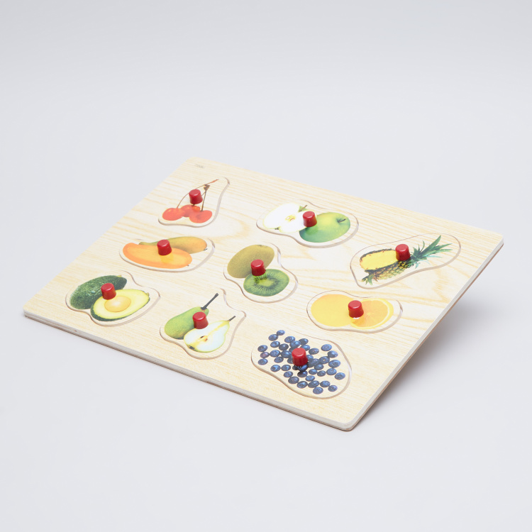 Juniors Fruit Puzzle Board with Knobs