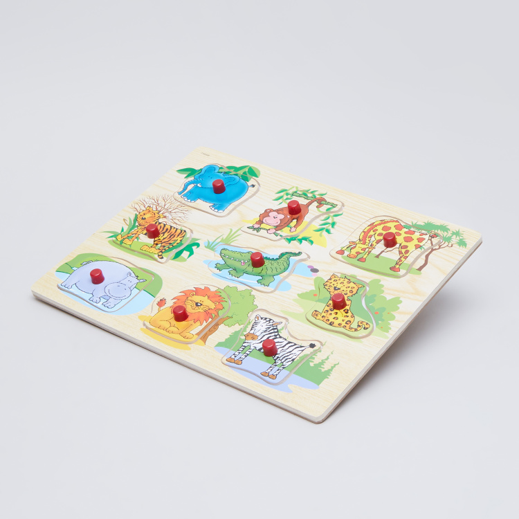 Juniors Wild Animal Puzzle Board with Knobs