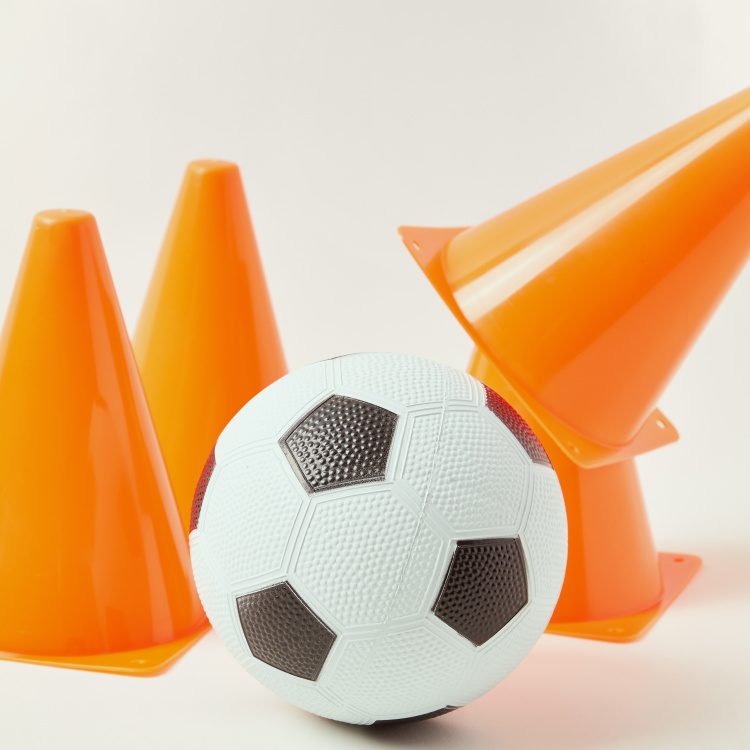 Juniors Football Trainer Playset with 4 Cones