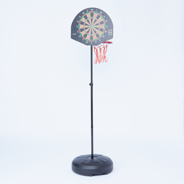 Juniors 2-in-1 Basketball Stand with Dart Target Playset