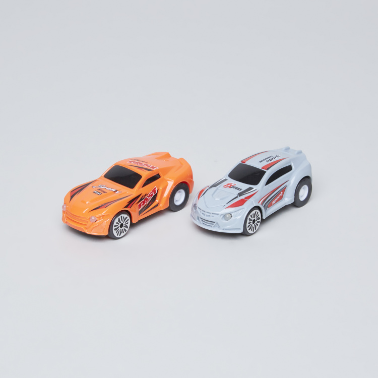 Pull Back Track Racer with 2 Cars