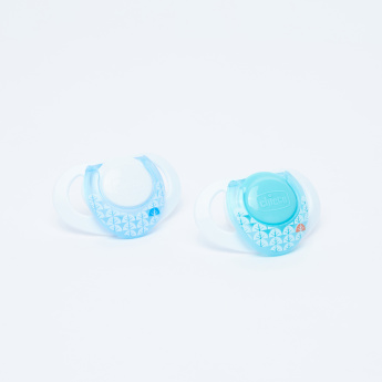 Chicco Soother with Printed Handle - Set of 2