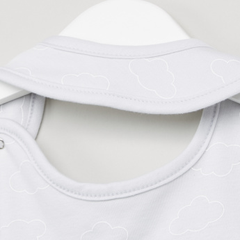 Juniors Cloud and Ear Applique Bib with Snap Button Closure