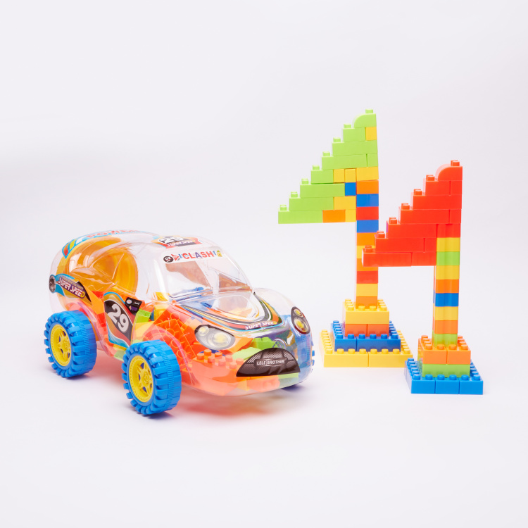 Super Sports Car Building Blocks Playset