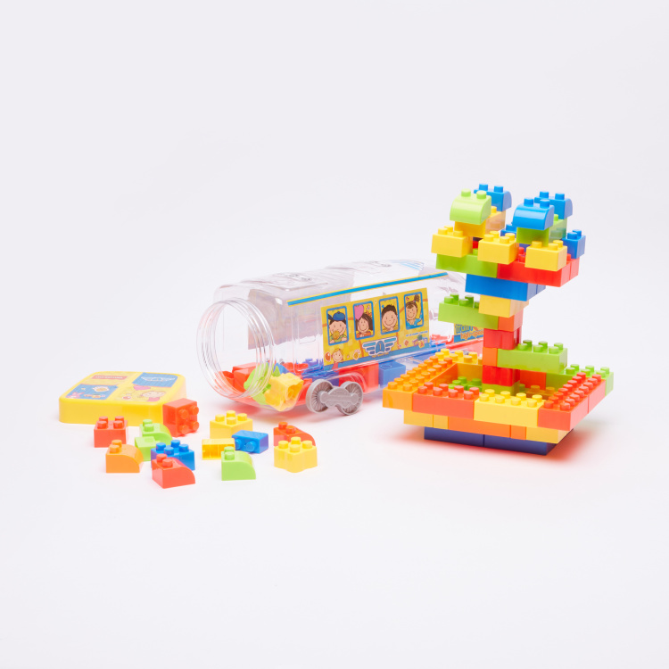 Fast Train Building Blocks Playset
