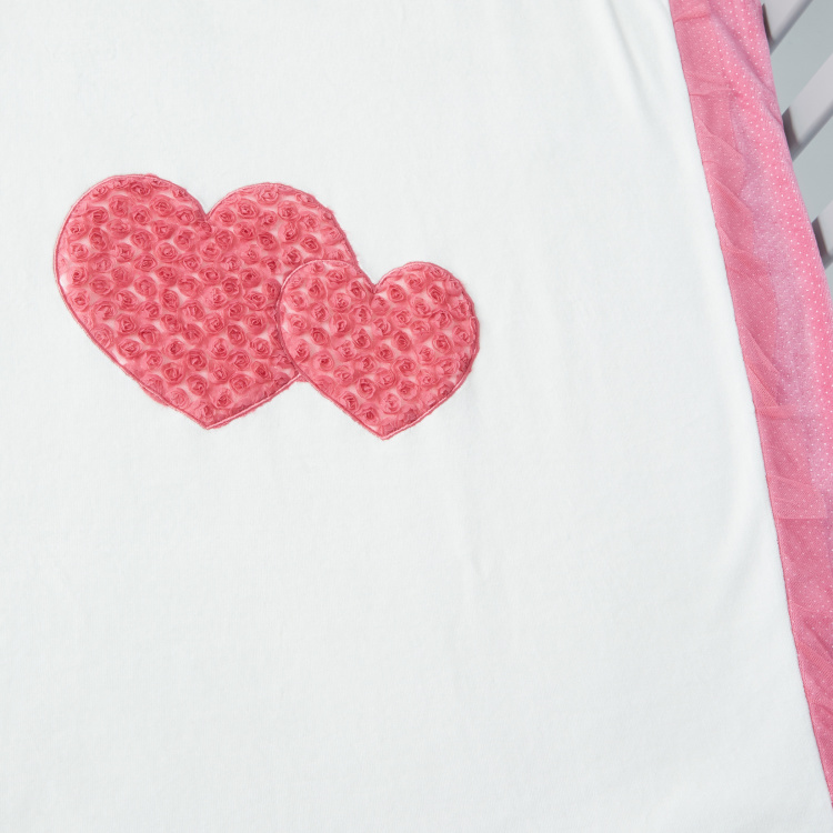 Juniors Heart Applique Blanket - 95x72 cms