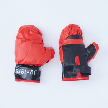 Juniors Punching Ball with Stand and Gloves