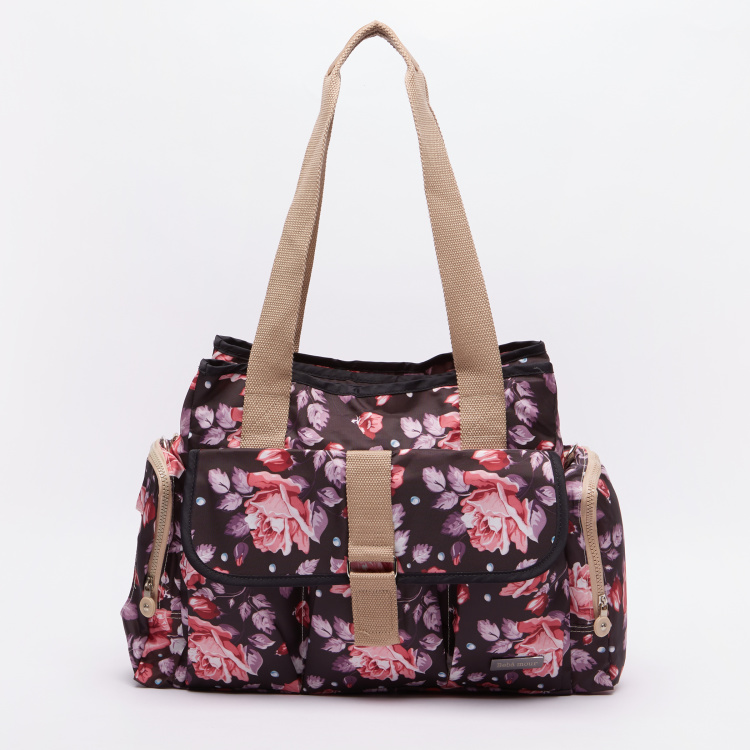 Juniors Molly Floral Printed Diaper Bag with Changing Accessories