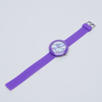 Charmz Printed and Embellished Analog Wristwatch