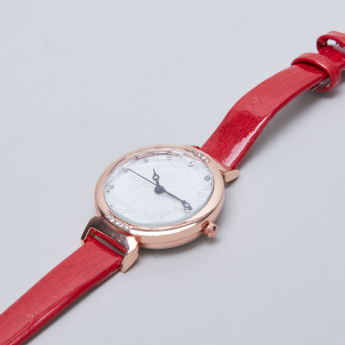 Charmz Crystal Detail Watch with Pin Buckle
