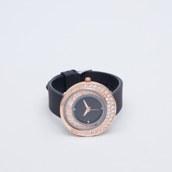 Charmz Studded Wristwatch with Pin Buckle