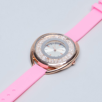 Charmz Crystal Detail Wristwatch