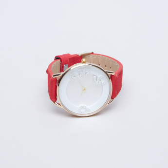 Charmz Stitch Detail Wristwatch