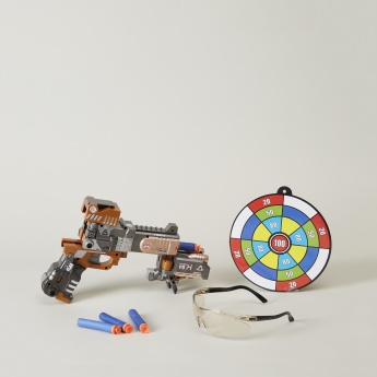 Leopard Gun Toy with Soft Foam Bullets and Safety Glasses