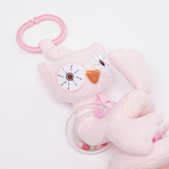 Giggles Sweet Owl Spiral Rattle with Teether