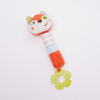 Giggles Fox Shaped Rattle with Teether