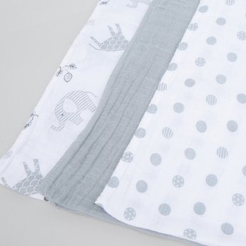 lulujo Assorted Receiving Blanket - Set of 3