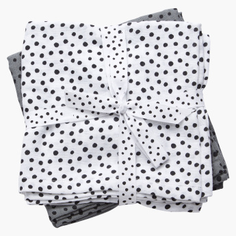Done by Deer Polka Dot Printed Burp Cloth - Set of 2