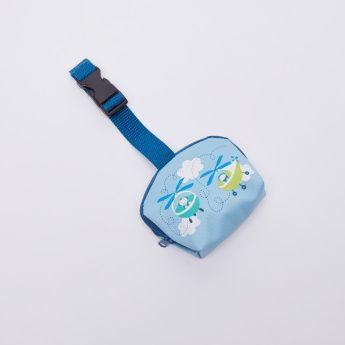 BABY-NOVA Printed Soother Bag with Zip Closure