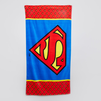 Superman Printed Beach Towel
