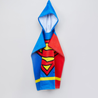 Superman Printed Poncho Towel with Hood