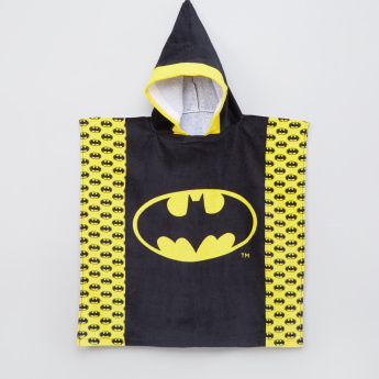 Batman Printed Poncho Towel with Hood