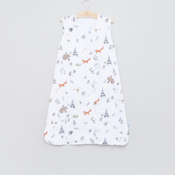 Little Unicorn Printed Sleep Bag with Zip Closure