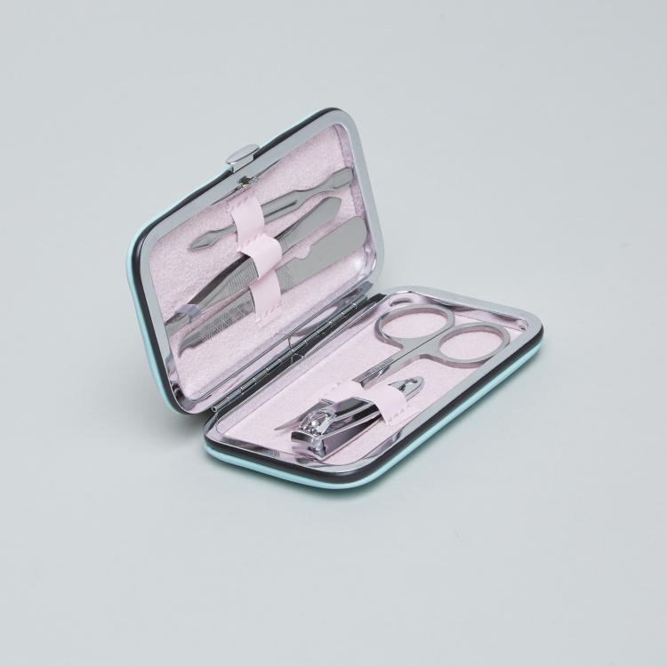 Printed 5-Piece Manicure Set with Hard Case