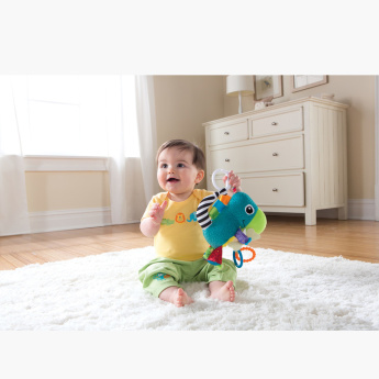 Torin the T-Rex Rattle Toy with Teether Rings