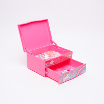 Hot Focus Studded Pop-Open Trinket Box with Stationery
