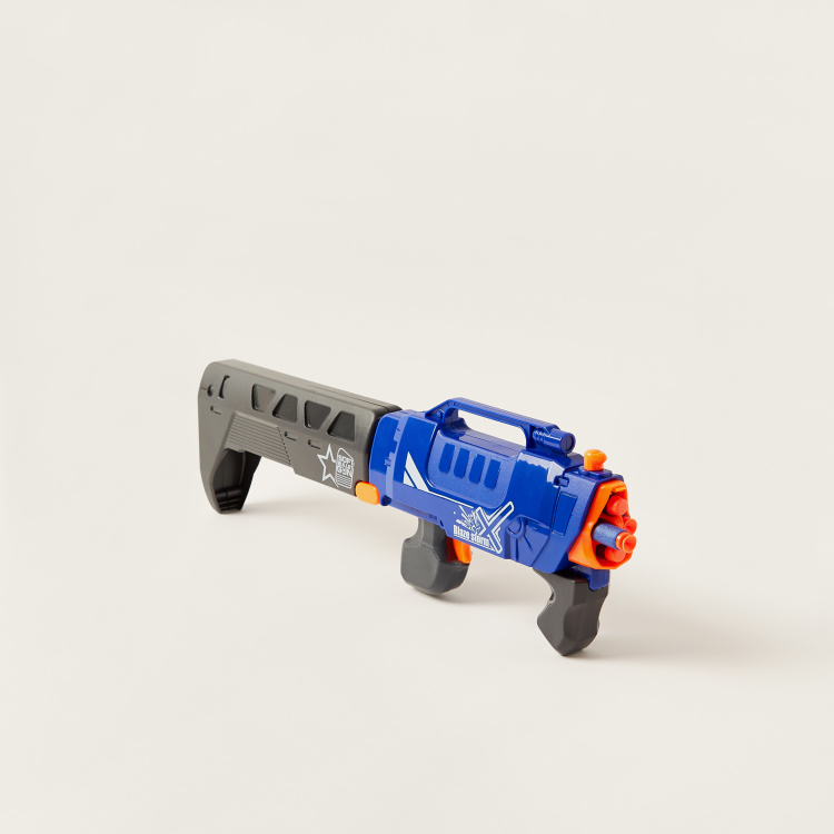 Blaze Storm Manual Soft Dart Gun with 20-Piece Dart Bullets