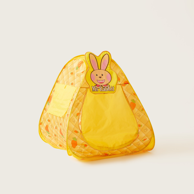Juniors Rabbit Printed Play Tent with Balls