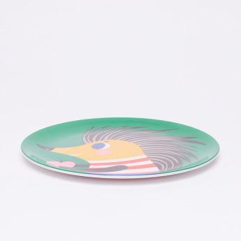 Petit Monkey Printed Round Shaped Plate