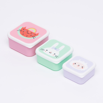 Petit Monkey Printed 3-Piece Lunchbox Set