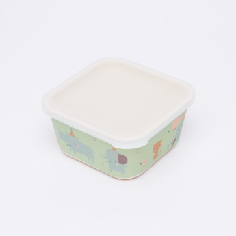 Petit Monkey Bamboo Printed Storage Box with Lid - Set of 3