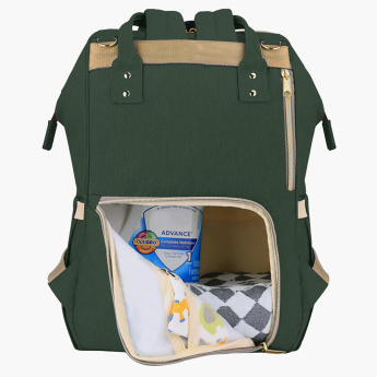 Sunveno Diaper Backpack with Zip Closure and Adjustable Straps