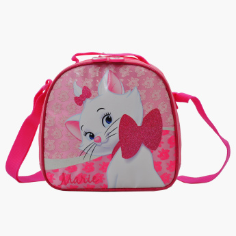 Marie Printed Lunch Bag with Zip Closure and Adjustable Strap