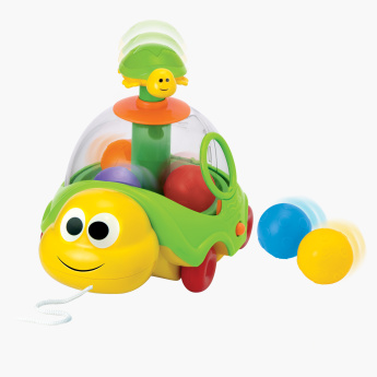 Spin n Pull Turtle Musical Toy with Balls