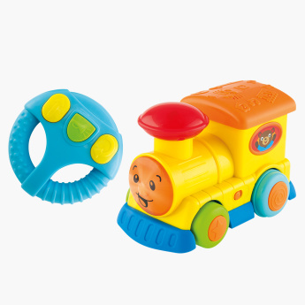 Musical Toy Train with Steering Wheel Shaped Remote Control