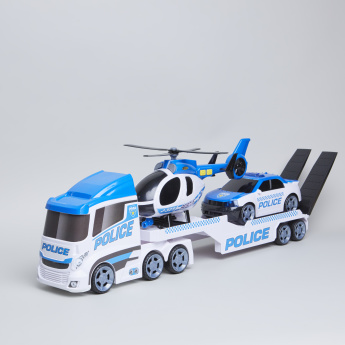 Emergency Transporter Police Helicopter Playset