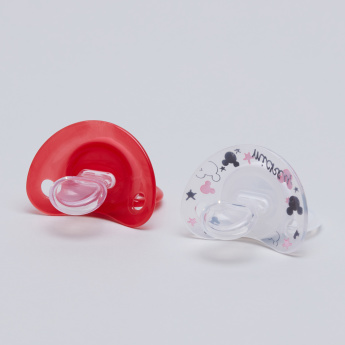 NUK Mickey Mouse and Minnie Mouse Printed Soother - Set of 2