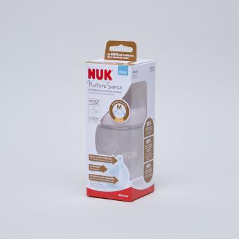 NUK Nature Sense Printed Feeding Bottle - 240 ml