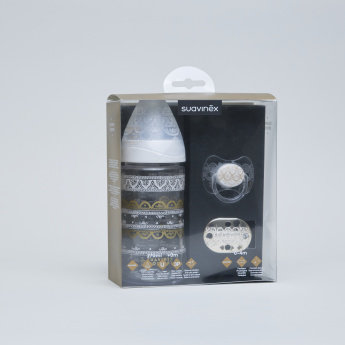 Suavinex Feeding Bottle with Soother and Soother Chain